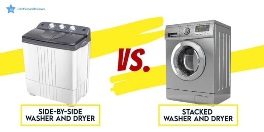 stacked washer and dryer vs side by side